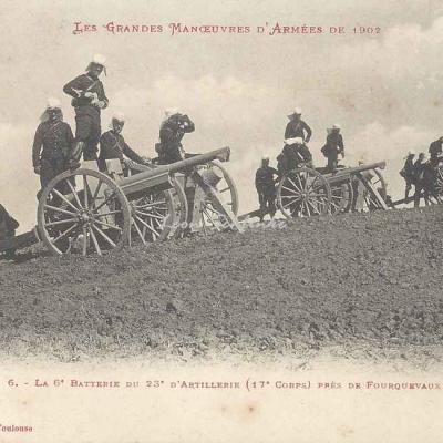 6 - La 6° batterie du 23° d'artillerie près de Fourquevaux