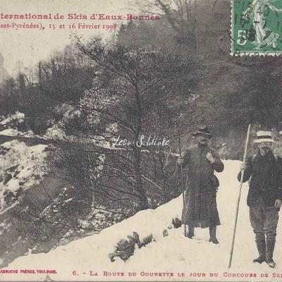 6 - La route de Gourette le jour du Concours de Skis