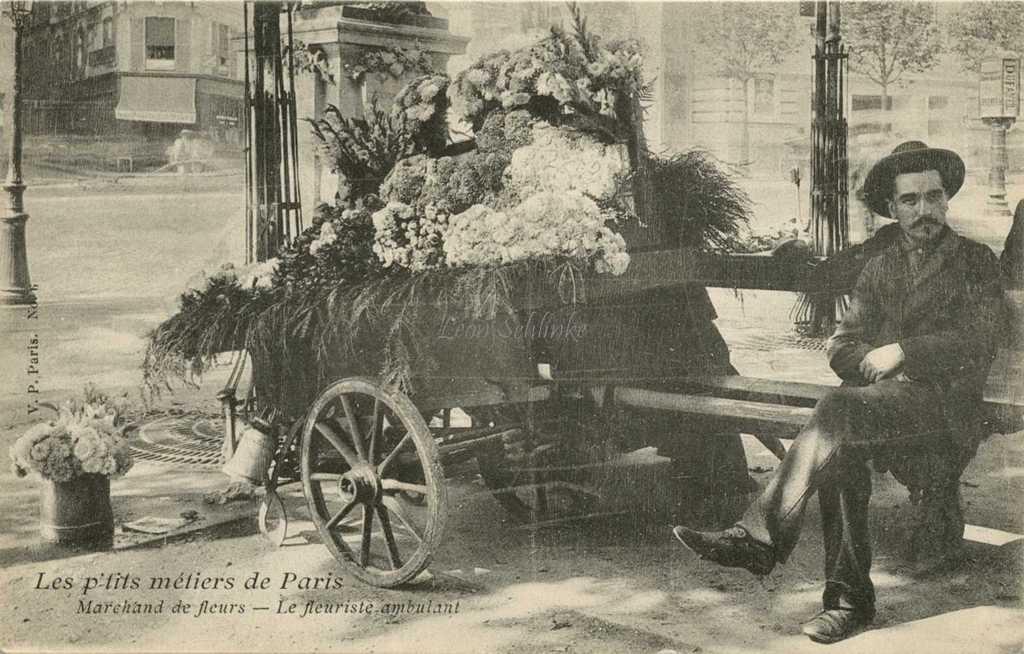 6 - Marchand de fleurs - Le fleuriste ambulant