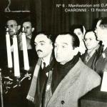 6 - Pierre Mendès-France pendant les obsèques des 8 victimes