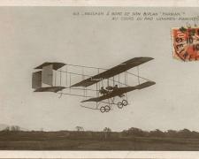 63 - Paulhan à bord de son Biplan Farman au cours du Raid Londres-Manchester