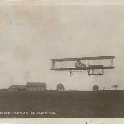 65 - Biplan Maurice Farman en plein vol