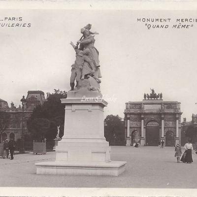 67 - Les Tuileries - Monument Mercier 'Quand même'