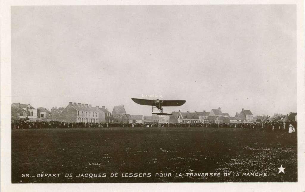 69 - Départ de Jacques de Lesseps pour la traversée de la manche