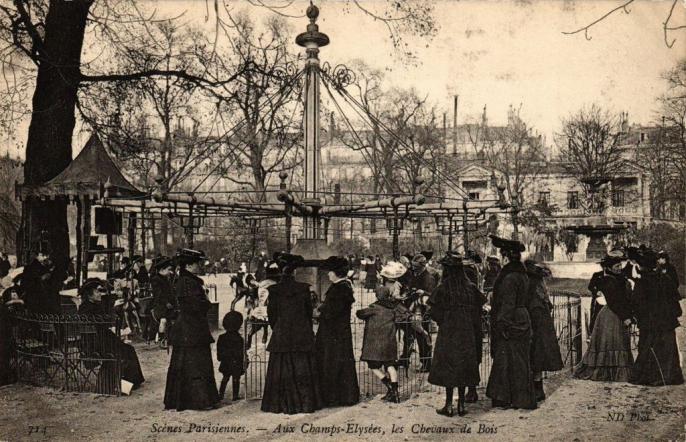 ND 714 - Aux Champs-Elysées, les Chevaux de Bois