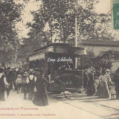 73 - Croix-Daurade - Arrivée d'un Tramway