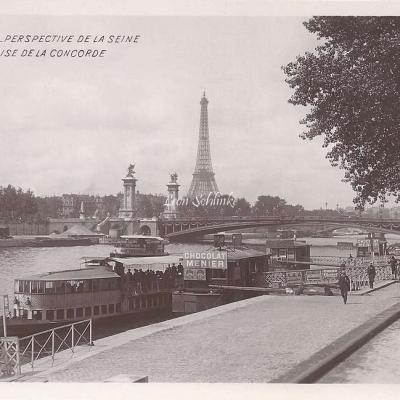 75 - Perspective de la Seine - Vue prise de la Concorde