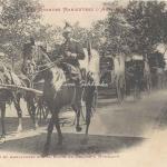 8 - Convoi et ambulances sur la route de Baziège à Montlaur