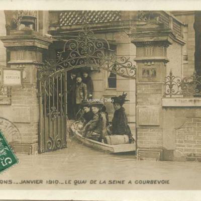 8 - Le Quai de la Seine à Courbevoie