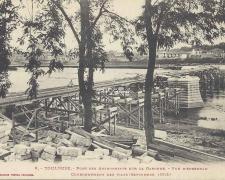 8 - Vue d'ensemble du couronnement des piles (Septembre 1905)