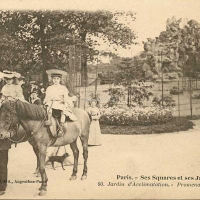 80 - Jardin d'Acclimatation - Les Poneys