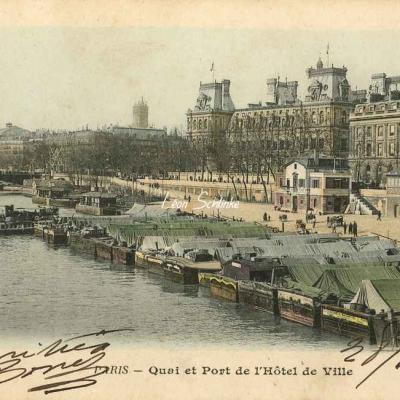 81 - Quai et Port de l'Hôtel de Ville