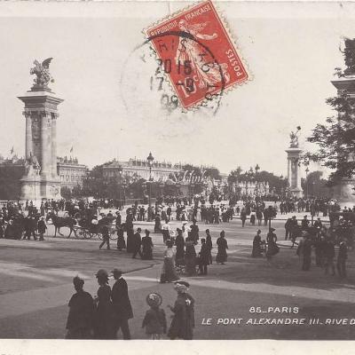 85 - Le Pont Alexandre III - Rive droite
