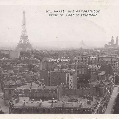 87 - Vue panoramique prise de l'Arc de Triomphe