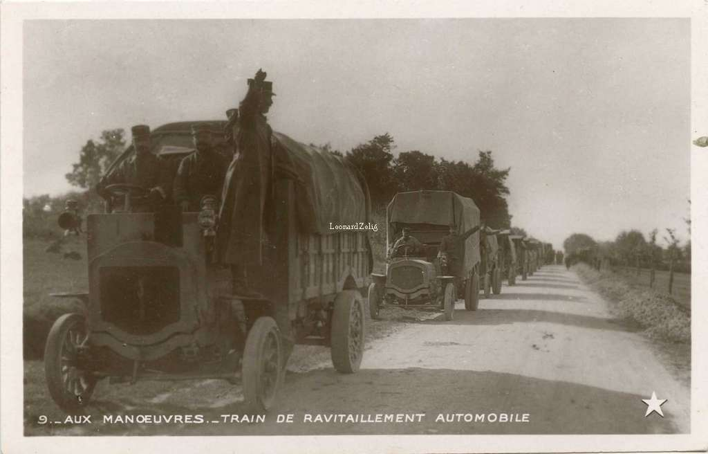9 - Aux manoeuvres - Train de ravitaillement automobile