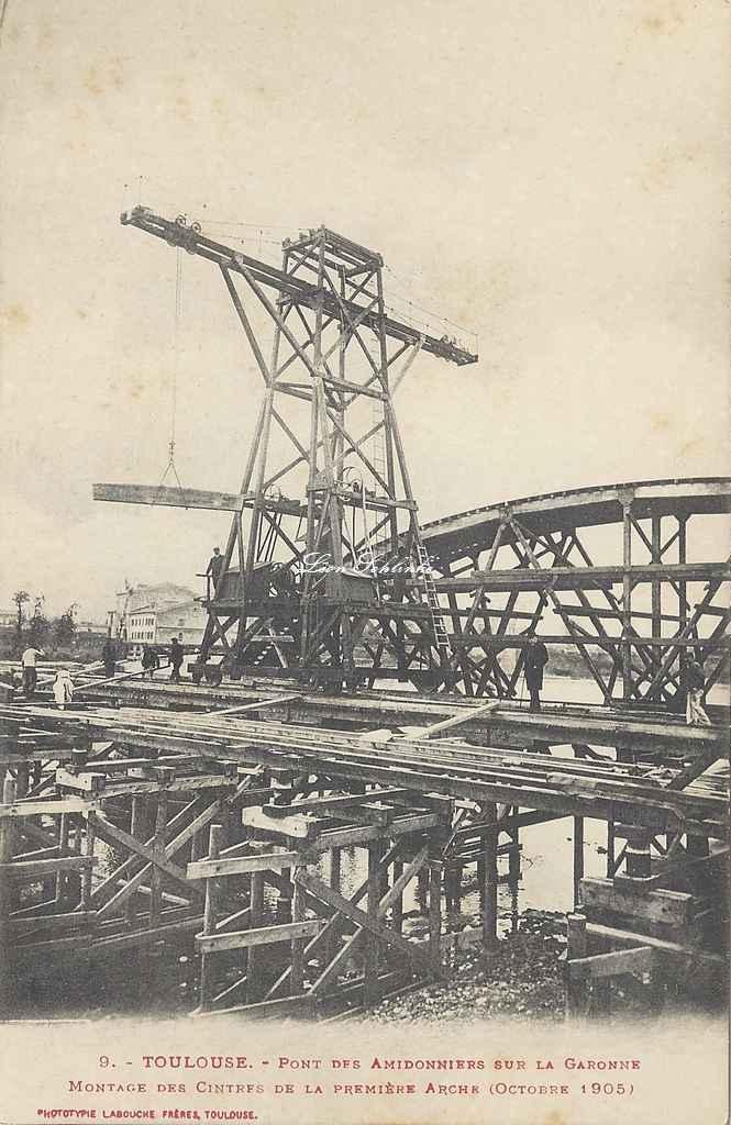9 - Montage des cintres de la 1ère arche (Octobre 1905)