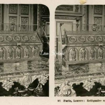 91 - Paris - Louvre - Reliquaire en or du XII) siècle