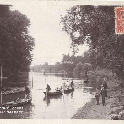95 - Bois de Boulogne - Bords de Seine après le Barrage
