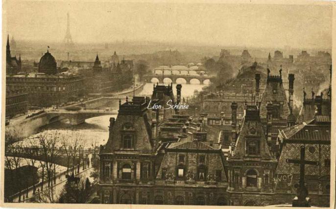 98 - Vue panoramique de Paris, les 7 Ponts