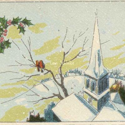 1398 - Les Oiseaux et l'Eglise - Sous la neige
