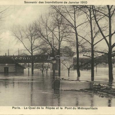 A.Bréger - Le Quai de la Rapée et le Pont du Métropolitain