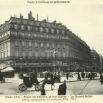 A. Bréger -  Paris IX° - Place de l'Opéra et rue Auber - Le Grand Hôtel