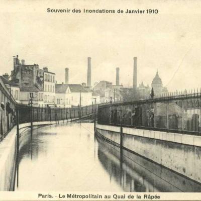 A.Bréger - Paris - Le Métropolitain au Quai de la Rapée