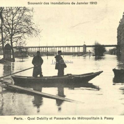 A.Bréger - Quai Debilly et Passerelle du Métro à Passy