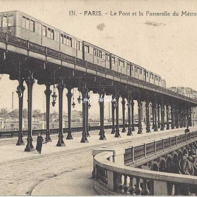 Abeille 131 - Le Pont et la Passerelle du Métropolitain à Passy