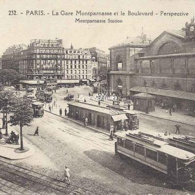Abeille 232 - La Gare Montparnasse et le Boulevard