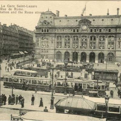 Abeille 266 - PARIS - La Gare Saint-Lazare et la Rue de Rome