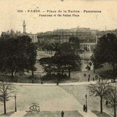 L' Abeille 300 - PARIS - Place de la Nation - Panorama