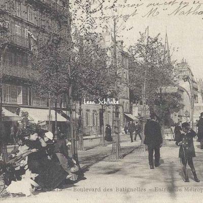 AC 124 - Boulevard des Batignolles - Entrée du Métropolitain