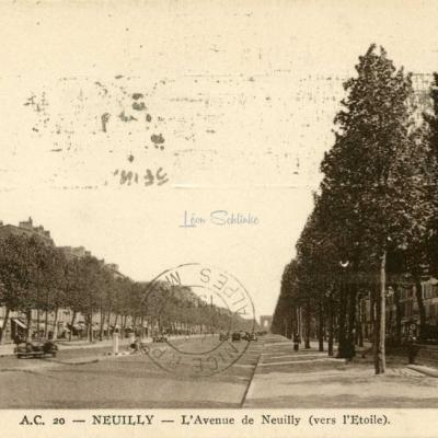 AC 20 - Neuilly - L'Avenue de Neuilly (vers l'Etoile)