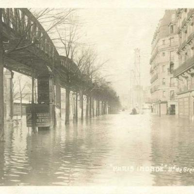 AHK - Paris inondé 1910 - Bd de Grenelle