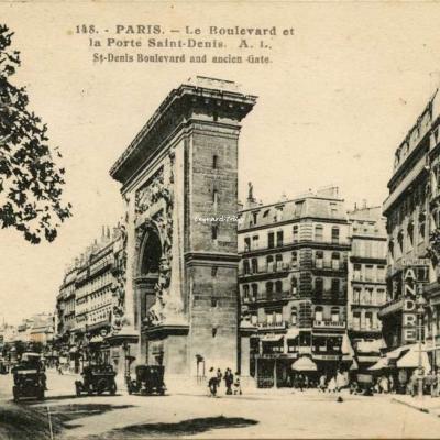 AL 148 - PARIS - Le Boulevard et la Porte Saint-Denis