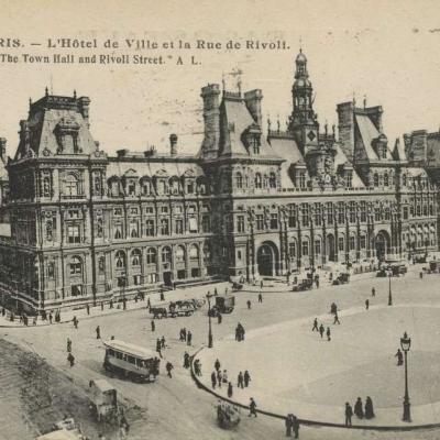 AL 189 - PARIS - L'Hôtel de Ville et la Rue de Rivoli
