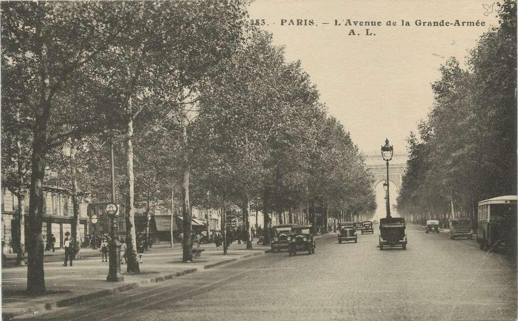 AL 283 - PARIS - L'Avenue de la Grande-Armée