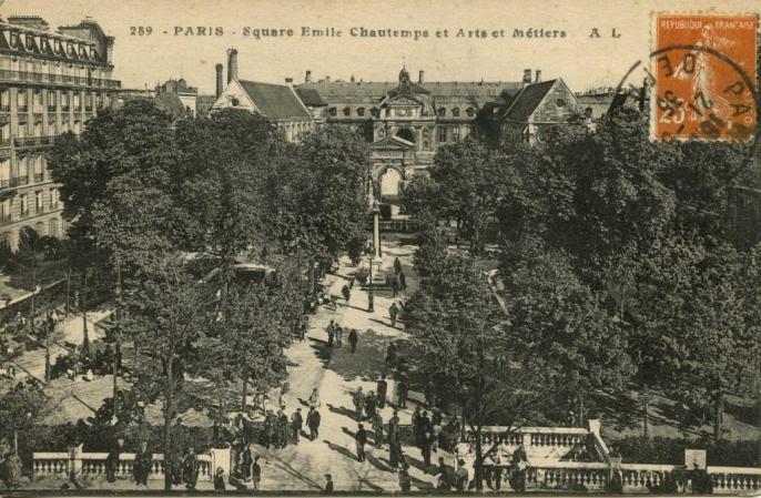 AL 289 - Paris - Square Emile Chautemps et Arts et Métiers