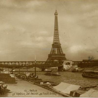 AN 10 - PARIS - Le Viaduc de Passy et la Tour Eiffel