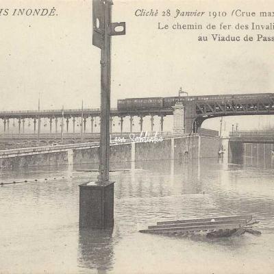 AN 12 - Chemin de Fer des Invalides inondé au Viaduc de Passy