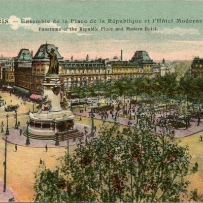 AP 125 - PARIS - Ensemble de la Place de la République et l'Hôtel Moderne