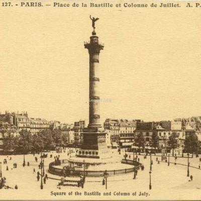AP 127 - PARIS - Place de la Bastille et Colonne de Juillet