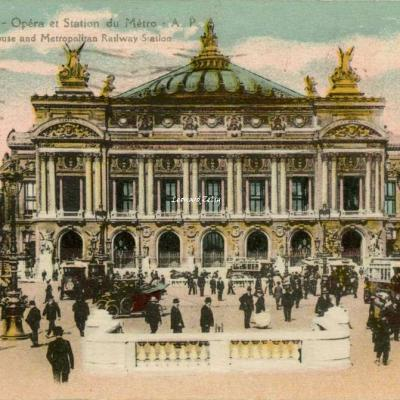 AP 170 - PARIS - Opéra et Station du Métro (vue 1)