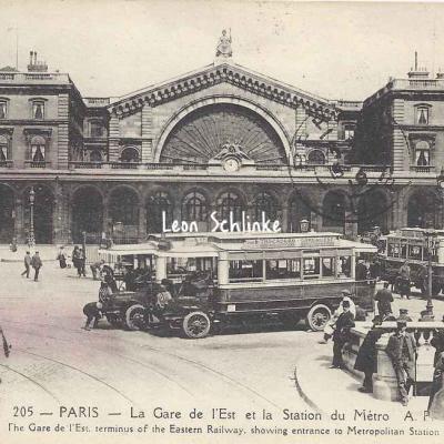 AP 205 - La Gare de l'Est et la Station du Métro