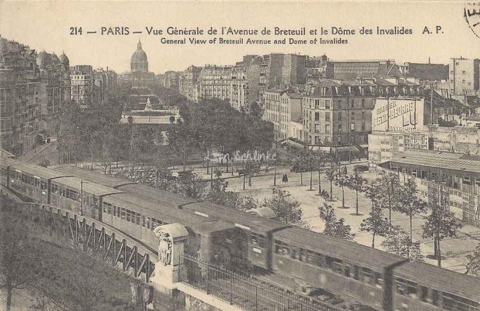 AP 214 - Vue générale de l'Avenue de Breteuil - Le Dôme des Invalides