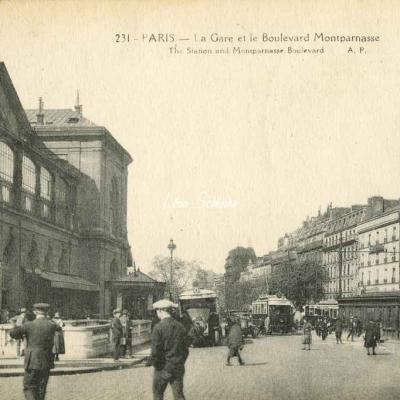 AP 231 - La Gare et le Boulevard Montparnasse