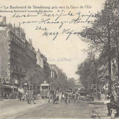 AP 446 - Le Boulevard de Strasbourg pris vers la Gare de l'Est