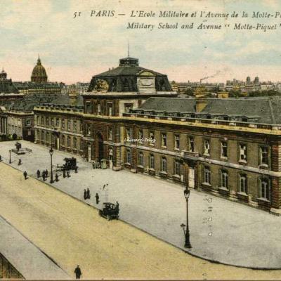 AP 51 - PARIS - L'Ecole Militaire et l'Avenue de la Motte-Piquet