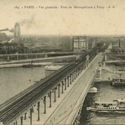 AR 184 - Vue générale - Pont du Métro à Passy